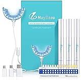 Teeth Whitening Kit MayBeau Zahnaufhellung Set mit Hochwertig 24X LED Licht 3 Zahnaufhellung Stifte Zahnbleaching Gel Bleichsystem für Weiß Zähne Zahnweiß Zahnreinigung Zahnpflege zu Hause