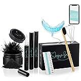 Hochwertiges Teeth whitening kit von UniqueSmile - All in One Bundle für Zahnaufhellung & weiße Zähne|Zahn Bleaching Set (Premium-Set)