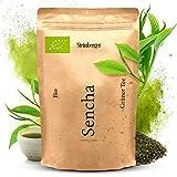 Bio Sencha Grüntee fein-herb aromatischer Geschmack   Sencha der ideale Kaffee-Ersatz   Grüner Tee Bio 250g ohne Zusatzstoffe im wiederverschließbaren Aromapack