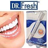 Absolute White Teeth - Whitening Pen (Made in USA) Dr Fresh | Zahnaufhellung bei Verfärbungen durch Kaffee, Tee, und dunklen Soßen | einfache Anwendung, keine Stripes notwendig (3x)